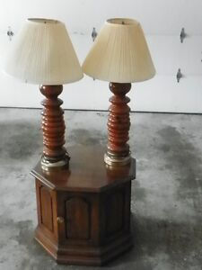 Two Table lamps End Table & Office Chair