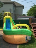 Wipeout curve water slide for sale inflatable