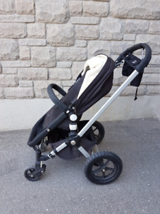 Bugaboo Frog Stroller w/ Wheeled Board & Car Seat Adapter