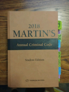 2018 Martin's Annual Criminal Code by Thomas Reuters