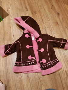 Two coats, girl, 6-12 month