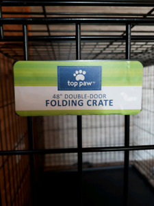 "Top Paw 48"" Folding Dog Crate"