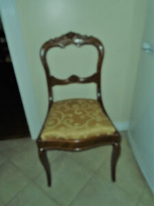 4 FOUR ANTIQUE CHAIRS Quality ORNATELY CARVED ROSES