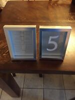 Picture Frames/ Table Numbers. $35