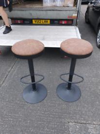 69. Pair of hydrolic stools