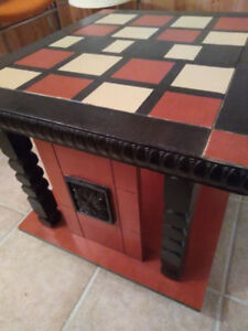 Retro 1970s Chunky Wooden Table