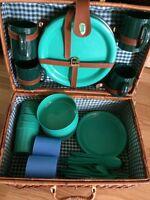 Wicker Picnic Basket Set