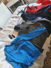 4 Genuine North face jumpers