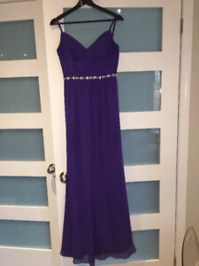 Bridesmaid dress size 2 in royal purple