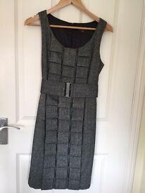 Grey material shift dress