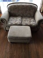 Loveseat and Chair + ottoman