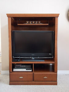 Entertainment Console and TV