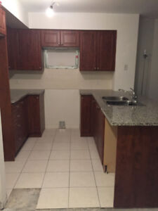 Used Kitchen Cabinets, Granite Countertop and Double Sink