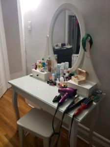 Hemnes dressing table + stool