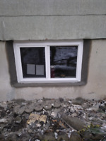 REPLACE OLD BASEMENT WINDOWS WITH NEW ENERGY EFFICIENT