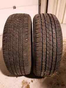 2 Tires for sale 235/60 R17