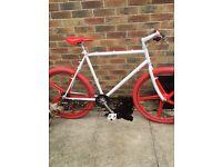 Custom built cruiser bike