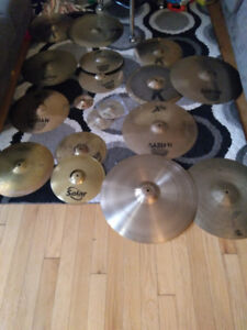 Enorme Lot de Cymbales !!!! Drum Batterie Cymbal. CRAZY PRICES!!