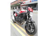 EX DEMO Suzuki SV650 Cafe in red