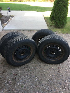 """15"""" Winter Tires and Rims for KIA Soul"""