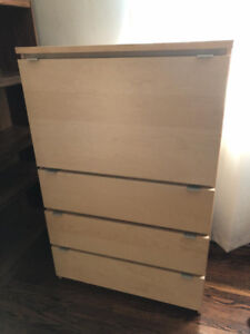 Modern Space-Saving IKEA Desk / TV Hutch with 3 Drawers $50