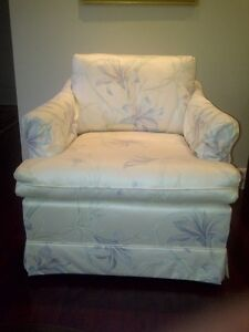 Arm Chair Upholstered, Arm protectors, rarely used, clean