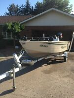 14' Misty Harbor Voyager DX14 30HP Evinrude 4 Stroke