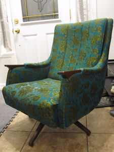 mid century rocking and swivel chair