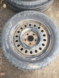 4 Steel wheels and winter tires