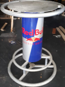 Almost mint condition red bull bar table