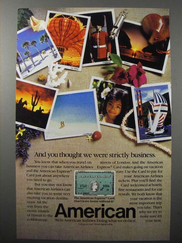 1984 American Express Card Ad - Strictly Business