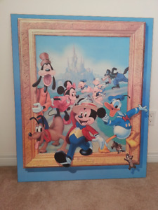 "DISNEY's ""Cartoon Classics"" 1987 Wall Art in Excellent Condition"