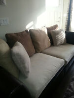 $800 - 2 piece sofa and love seat - excellent condition