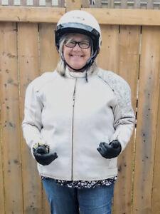 Biker Jacket, Helmet and Gloves. Sold together or separate