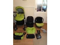 Gorgeous Silvercross Lime Green Full Travel System - MUST SEE!!