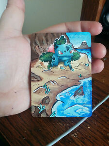 Custom Painted Pokemon Cards