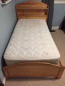 Twin Captains Bed & Mattress