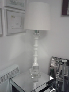 lampe chic déco luxe blanc white NEW lamp