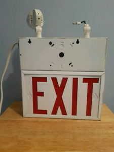 Metal Lighted Exit Sign