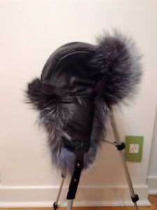 Genuine fur winter hat - New