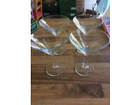 4 X cocktail glasses