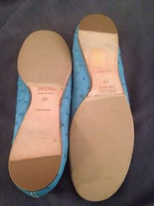 PRADA blue 36-36.5 loafers shoes slip on moccasins AUTHENTIC West Island Greater Montréal image 3