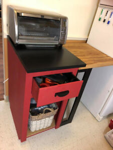 NEW PRICE Kitchen Island or Microwave Stand $225 OBO