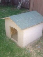 Insulated solid dog house for sale