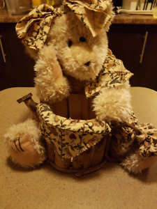 Teddy Bear Flower Basket