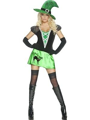 Wicked Bitch Costume Green XS UK 4/6 HALLOWEEN CLEARANCE Ladies Fancy Dress - Wicked Halloween Costumes Uk