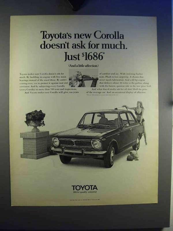 1969 Toyota Corolla Car Ad - Doesn