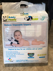Andy Pandy bamboo disposable diapers , new unopened packs!!!