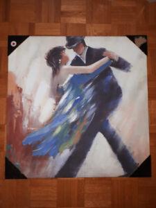 Decoration peinture danse en couple / dancing couple painting