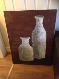 Large oil painted canvas picture